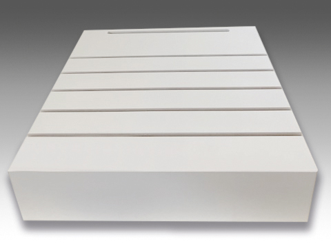 espositore base da terra mdf per campionature pannelli