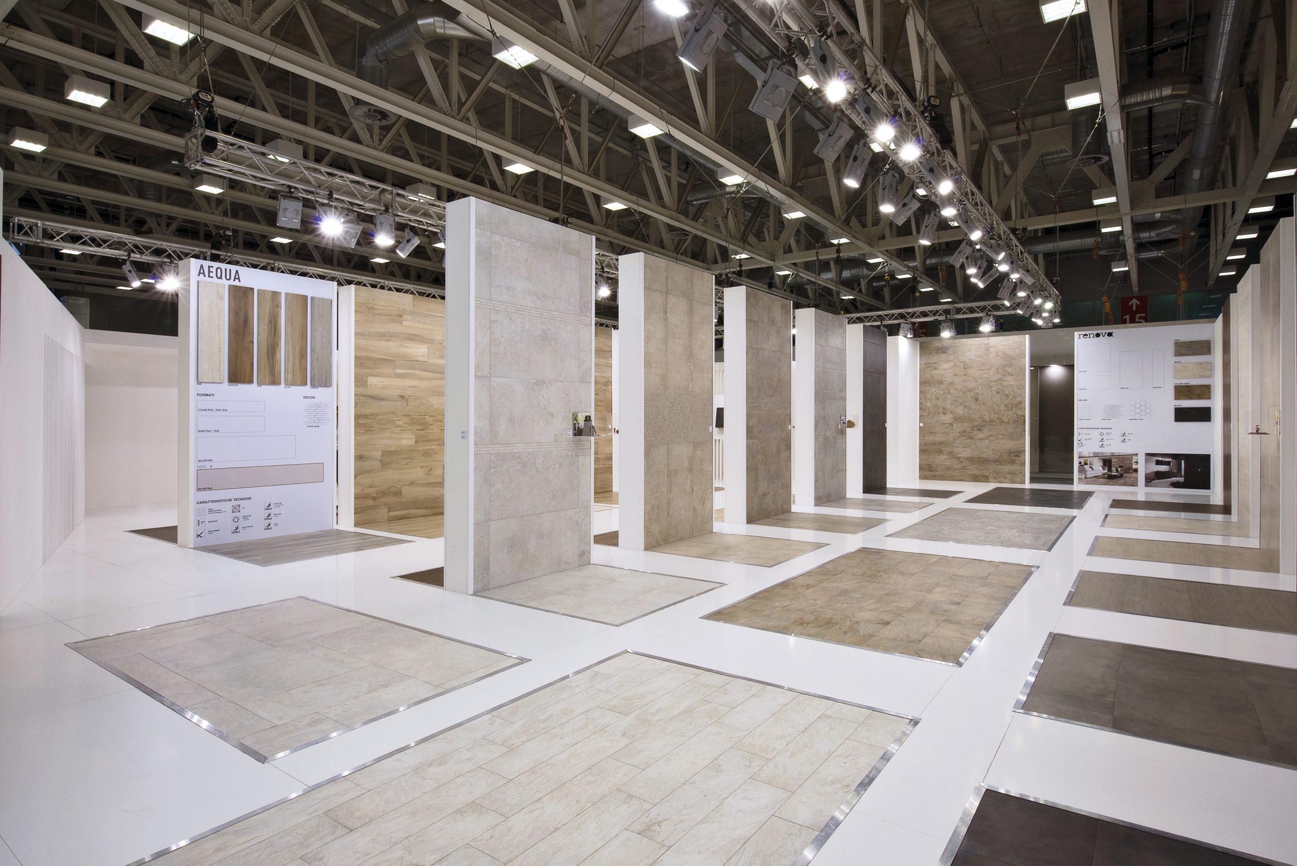 sistemi espositivi per show room ceramici