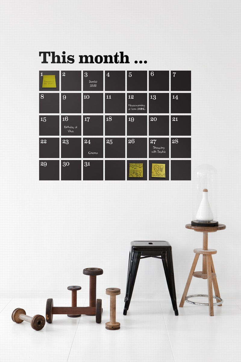 stikers calendario da interno adesivo murale vetrofanie.