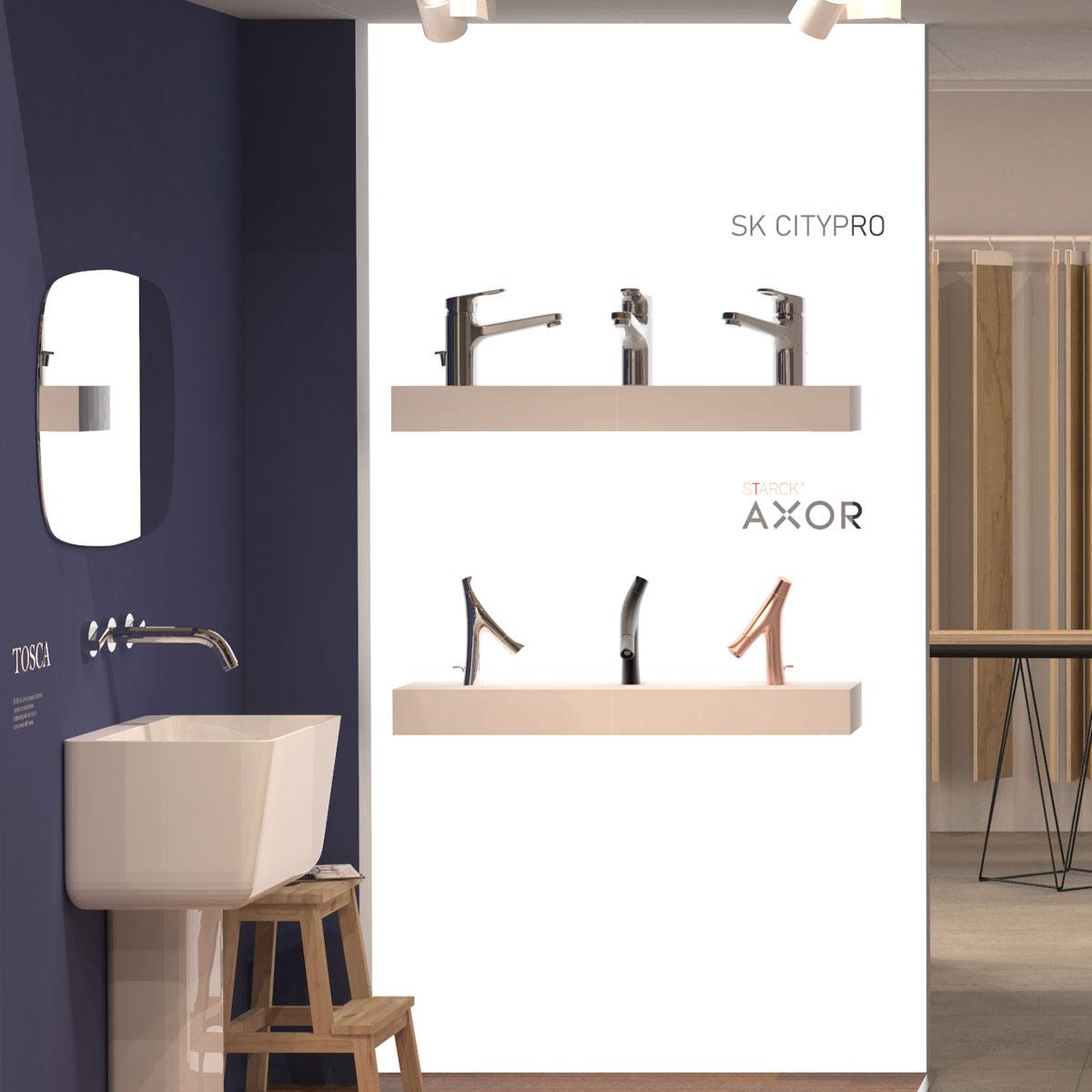 Sala mostra per esposizione accessori arredo bagno - espositori durevoli
