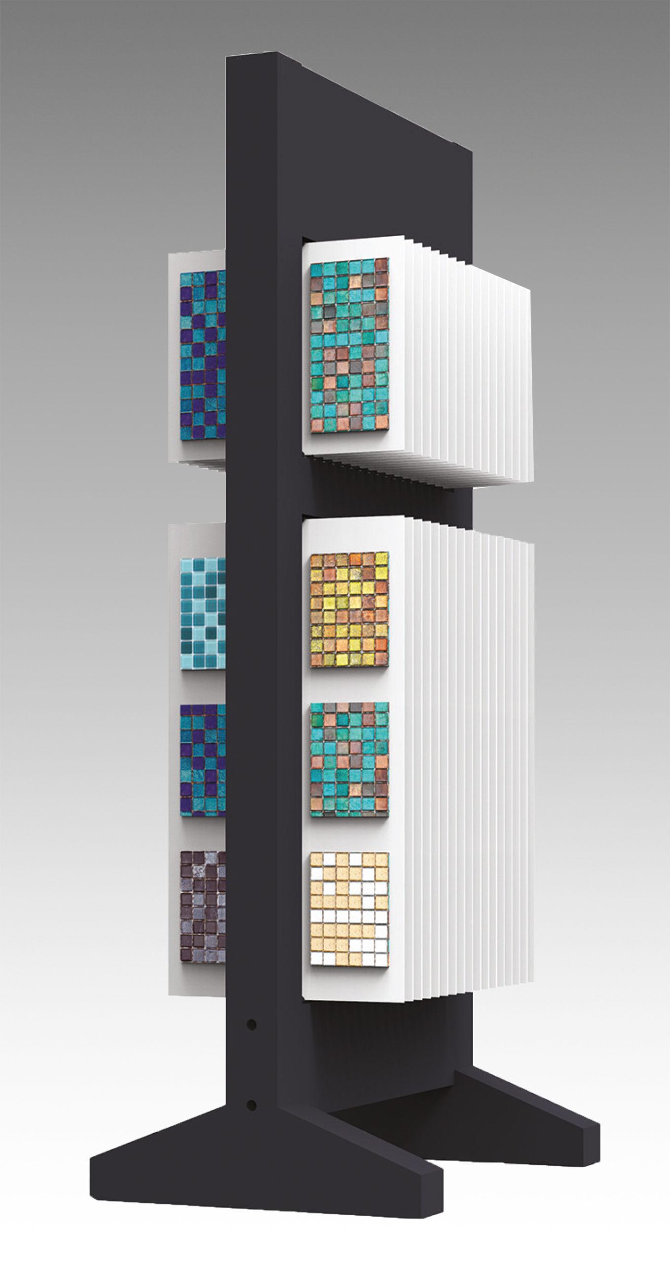Totem in ferro per mosaici con pannelli forex