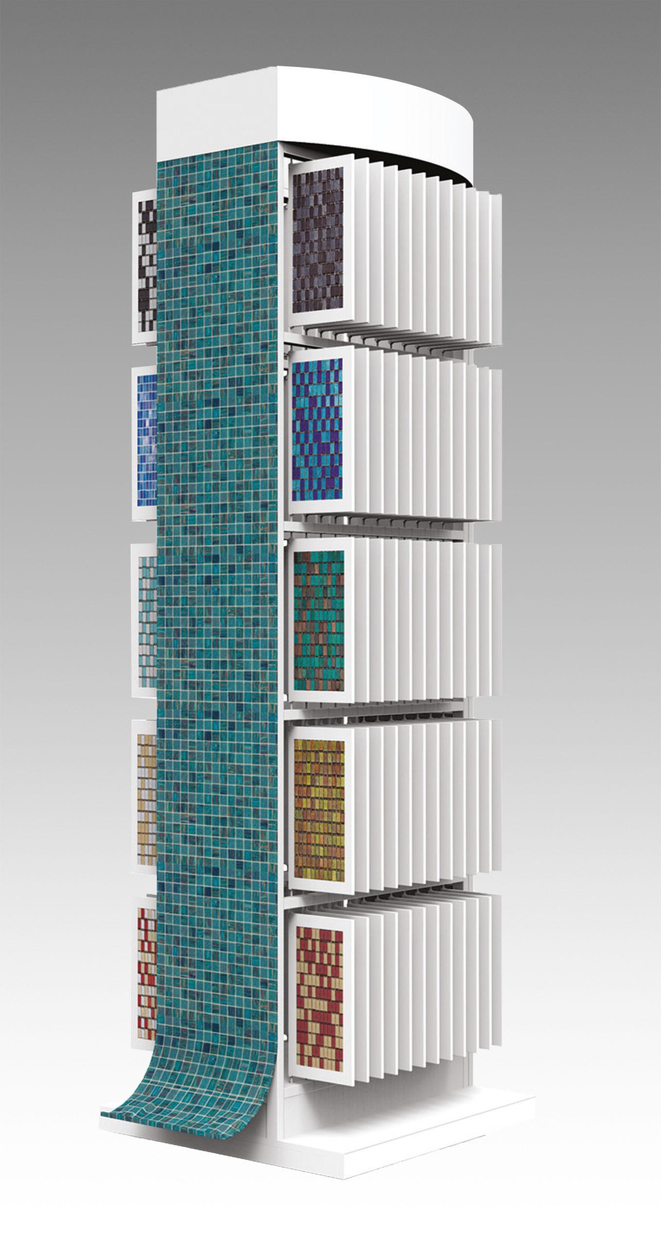 Espositore per mosaici in ferro