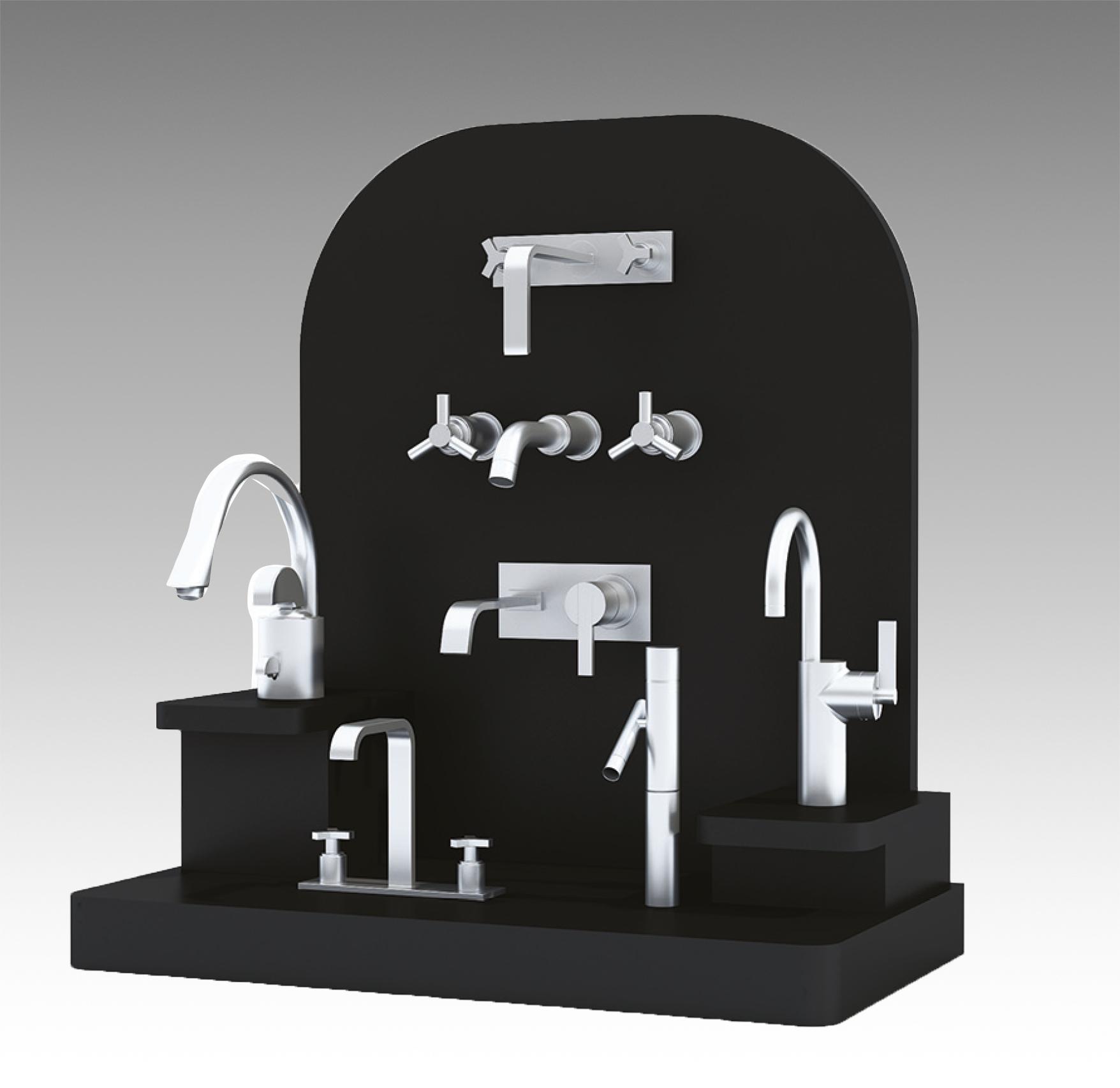 Espositore durevole arredo bagno per rubinetti mdf