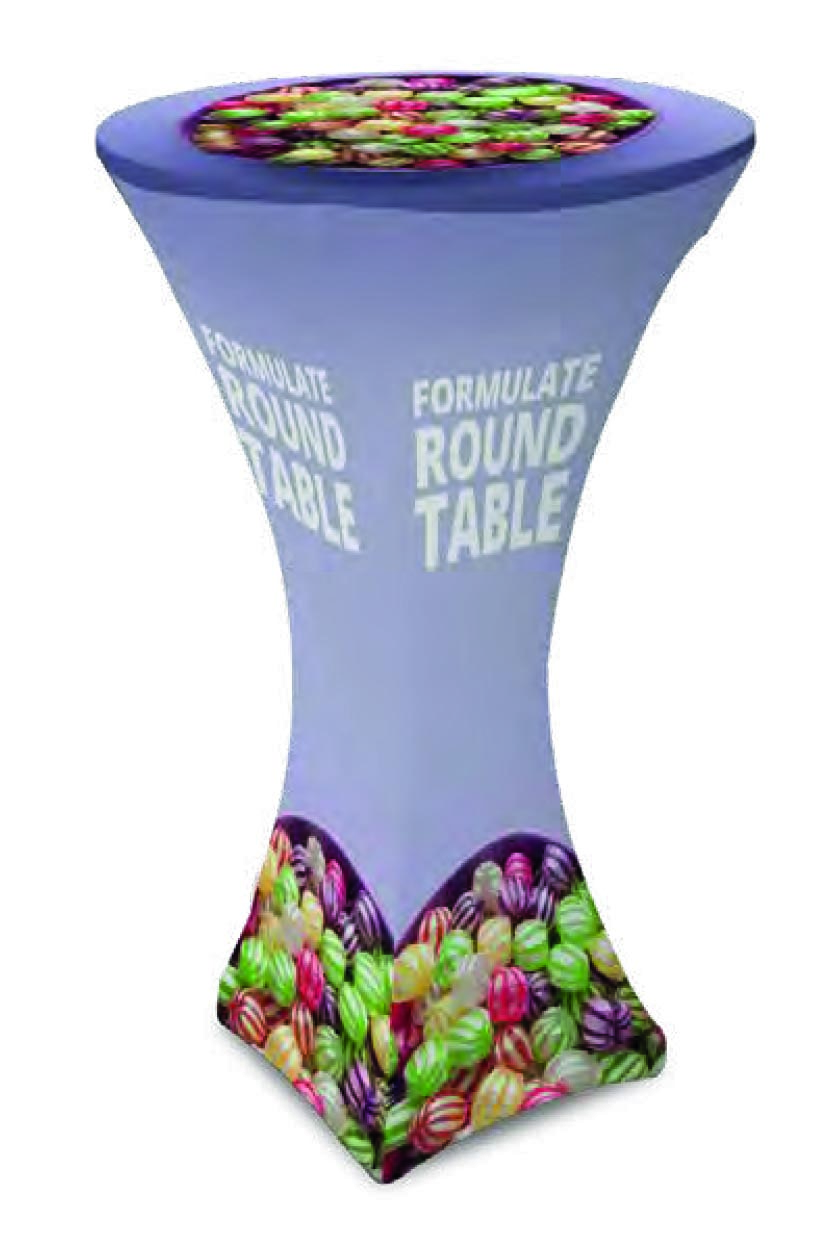 Tavolo per banchetti e promozioni in tubolare di alluminio e stampa su poliestere