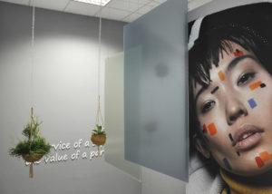 Pannelli decorativi in plexiglass appesi con stampa digitale di grande formato